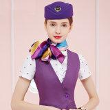 Procès de robe uniforme de femmes de mode d'hôtesse pourprée faite sur commande de ligne aérienne
