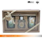 Set der 2 Duft-Diffuser- (Zerstäuber)des geschenks stellte mit Rattan-Stöcken im Geschenk-Kasten für Haus ein
