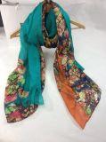 2017 neuer Blumen Degital Druck-lange Schals der Art-100%Silk Chiffon- kleiner