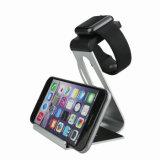 Stand de téléphone mobile d'alliage d'aluminium/support de montre