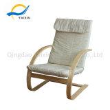 연약한 거품을%s 가진 현대 작풍 편리한 나무로 되는 의자