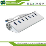 고속 5gbps 알루미늄 7 포트 USB 3.0 허브