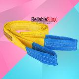 Tipo piano resistente imbracature della fascia della tessitura del poliestere dell'occhio dell'occhio di sollevamento