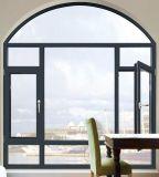 Guichet en aluminium de tissu pour rideaux de profil d'interruption thermique avec le dessus arqué (ACW-052)