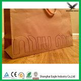 Papel de promoción bolsa con asa de cuerda Nudo PP