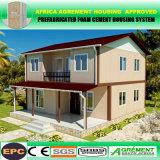 Chambre préfabriquée personnalisée par CPE de conteneur de structure métallique avec le panneau solaire