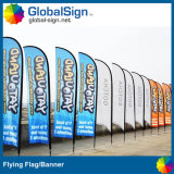 2015 Hot Selling Beach Flags, Feather Flags with Spike Base