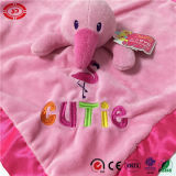 분홍색 Flamingo 및 Green Gator Animal Head Baby Blanket