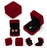 Коробка ювелирных изделий бархата оптовой цены Coated пластичная привесная