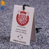 Sinicline nueva llegada Rosa impreso el logotipo de la lámina de colgar etiquetas personalizadas con hilo