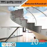 Поручень балюстрады лестницы нержавеющей стали конструкции изготовления фабрики специальный спиральн
