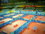 Сертификат Ittf настольный теннис ПВХ спорта пол с толщины 6.0mm красного цвета