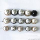 DIYのハンドメイドの衣類は帽子袋のアクセサリの合金の半円形のリベットの真珠の釘に蹄鉄を打つ