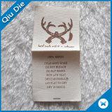 Escrituras de la etiqueta de seda de calidad superior de la cañería de la impresión para la tela de la ropa