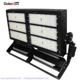 LED de alta potencia 600W de luz LED mástil alto de la luz del estadio al aire libre, 600W Reflector LED de sustitución de 1000W HPS
