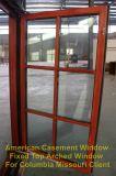 Ventana de aluminio de madera del marco