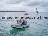 Barco de motor inflável rígido de Aqualand 18feet 5.4m/barco pesca do reforço (RIB540A)