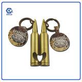 Многофункциональный изготовленный на заказ металл Keychain консервооткрывателя вина формы пули
