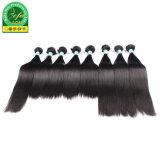 Tout droit naturel noir de cheveux humains mongol Virgin Accessoires de cheveux
