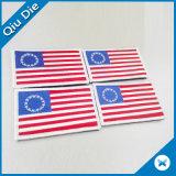 Flard van het Ijzer van de Kleding van de Hals van het Embleem van de Vlag van de douane 3D Geborduurde