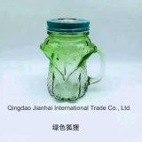 Fles van het Glas van de Kruik van de Metselaar van de Vorm van de Vos van de Ambacht van het glas de Leuke met Handvat