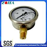 Les jauges de pression hydraulique remplis d'huile avec ss cas connecteur en laiton