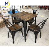 Vector industrial de madera sólida de la vendimia, vector de cena del metal del restaurante