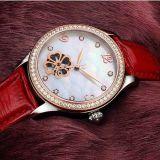 De Dames van de luxe letten op het Mechanische Horloge van de Riem van de Staalplaat van het Horloge