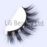 Nerz-die Wimpern der Lili-Schönheits-3D, die Nerz kreuzen, peitscht handgemachte volle Streifen-Augen-Peitschen das mehr als 40 Art-neuer Paket-Großverkauf