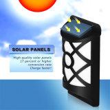 2018 Semi-Circular Grid Lampara de pared llama Solar lámpara de parpadeo de luz solar para Patio