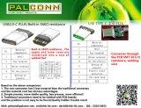Connettore maschio di USB2.0-C, resistenza incorporata di Ohm 56K, nessun PWB, valutazione corrente: durevolezza massima 5A: 10000 cicli, alogeno liberano il &Nbsp; /&Nbsp di RoHS; /Imballaggio della bobina
