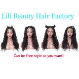 Lili 아름다움 레이스 정면 사람의 모발 가발은 파 150% 조밀도를 360의 레이스 정면 가발에 의하여 전 뽑아진 가는선 브라질 레이스 가발 푼다
