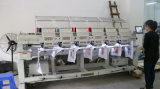 6 Kopf computergesteuerte Mischstickerei-Maschine für Shirt-Schutzkappen