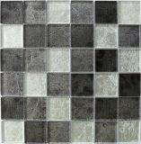 Mattonelle di mosaico di vetro Mixed dell'acciaio inossidabile del metallo e del cristallo