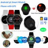teléfono elegante del reloj de Bluetooth de la muñeca 3G/Android con el ritmo cardíaco Dm368