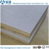1250x2500x18mm e0 papel de la melamina, madera contrachapada frente