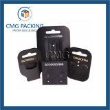 Пластмасса Gloosy карточки ювелирных изделий вися черная (CMG-092)