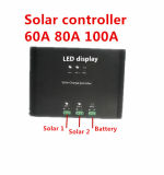 Hohe Leistungsfähigkeit 100A mit LED für Sonnenenergie-Solarladung-Controller