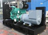Тип охлаженный водой открытый комплект генератора 300kw Cummins ATS тепловозный