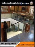 Pêche à la traîne en verre de balcon d'acier inoxydable avec le poste rond d'acier inoxydable