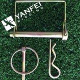 亜鉛は鋼鉄ロックの安全分割されたばねR Pinをめっきした