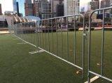 Гальванизированная загородка управлением толпы временно