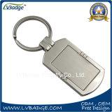 Anel chave do metal em branco relativo à promoção para o logotipo feito sob encomenda