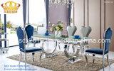 Cadeira de jantar moderna dos pés cinzentos do aço inoxidável do plutônio