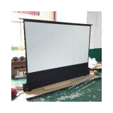 120 pouces à la hausse de tension de l'onglet Ecran de projection de plancher électrique Boîtier en aluminium ultra portable pour projecteur à courte portée
