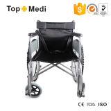 Sillón de ruedas manual de acero del hospital médico barato de los precios de Topmedi