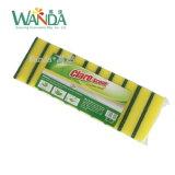 Estropajo no deformido de la esponja de las pistas de fregado de la esponja de la cocina para Disheswashing