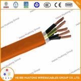 Conducteur de cuivre nu PE / PVC avec câble de raccordement de cuivre en cuivre étamé global Câble de puissance flexible et cordon d'alimentation