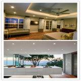 >90lm/W CRI>85 Supermarke 18W de iluminación de la ronda de la superficie del panel LED lámpara de techo