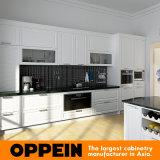 Kast van de Keuken van de Esdoorn van Oppein de Witte Klassieke Stevige Houten (OP16-S03)